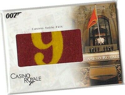 """James Bond In Motion - RC19 """"Casino Table Felt"""" Relic Card 006/400 - C Royale"""
