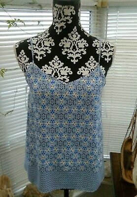 New Look Camisole Blue & White, Size 10, Loose Fitting. Great Condition