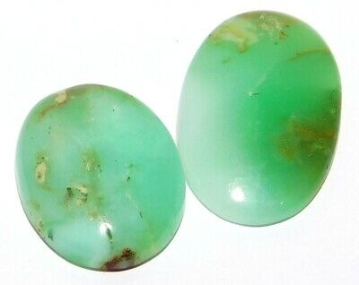 Chrysophrase Genuine Natural Loose Gemstone Cabochon Lot Green Oval 66Cts. 28647