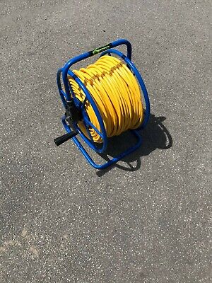 Blue Pro Hose Reel with 100 m of 6 mm Hose - Window Cleaning Reel