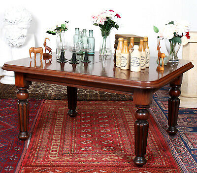 Antique Console Coffee Table Mahogany Victorian 19th Century Large
