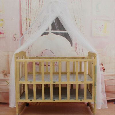 Baby Bed Mosquito Net Mesh Dome Curtain Net for Toddler Crib Cot Canopy LD