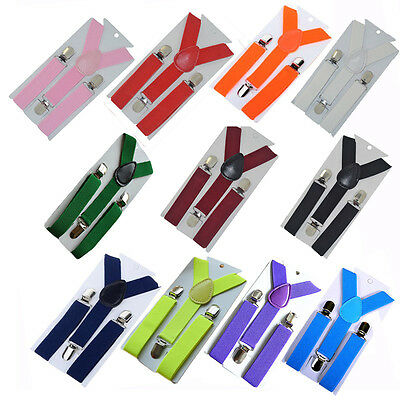 Fashion Children Kids Boy Girls Clip-on Suspenders Elastic djustable Braces best