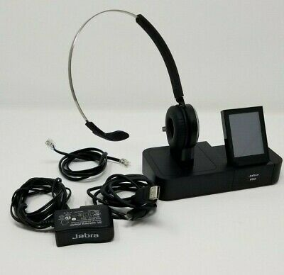 6cf51fbcd17 Used Jabra Pro 9470 Mono Wireless Unified Bluetooth Voip Headset Touchscreen