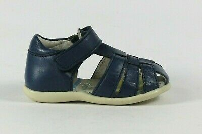 Petasil Target navy leather closed heel and toe sandal EU19/UK infant 3