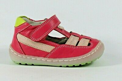 Petasil Jackson B pink leather closed heel and toe sandal/summer shoe EU20/UK4
