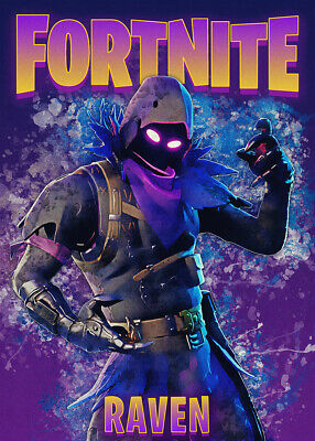 Glossy Game Posters, Wall Art, Poster,  Battle Royal, Fortnite, Raven