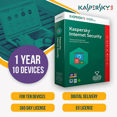Kaspersky Internet Security 2019 Multi Device | 10 DEVICES 10PC | 1 YEAR |  EU