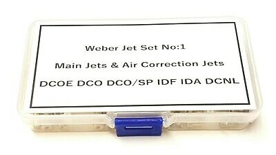 Weber Jets Selection Box No:1 Rolling Road Tuning DCOE DCO/SP IDF IDA DCNL