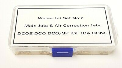 Weber Jet Selection Box No:2 Rolling Road Tuning Weber DCOE DCO/SP IDF IDA DCNL