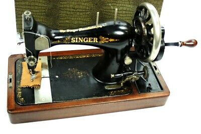c1895 Antique Singer 28K Hand Crank Sewing Machine [5306]