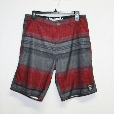a859171835150 Vans mens board shorts size 30 gray red checkered swim trunks vanphibian  summer