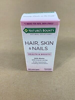 NATURE\'S BOUNTY HAIR, Skin and Nails Caplets 60 Tablets Each ...