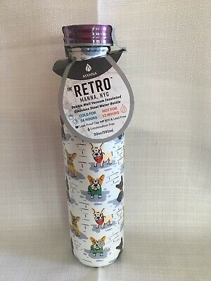 6edb8e25f9 Manna NYC Retro Dog Collection Stainless Steel 20 Oz Water Bottle SOLD OUT