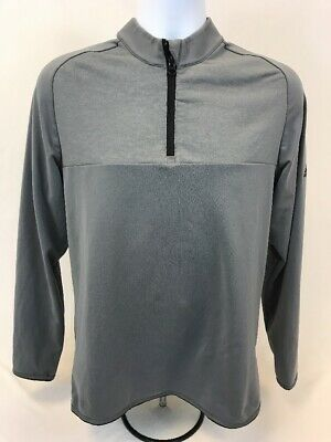 f7fe9b3d8 Adidas Men's Gray Long Sleeve Climawarm Layering 1/4 Zip Athletic Top ...