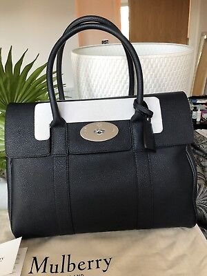 Mulberry Bayswater Heritage Midnight Blue Handbag Large Authentic NWT RRP £1,350