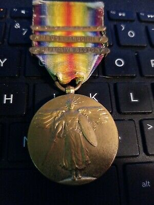 Ww1 Victory Medal With Bars /All Original Pieces On Medal Good Looking Free Ship
