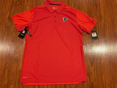 03c607d7238 Nike Men's Atlanta Falcons Team Issue Polo Jersey Shirt Large L NFL Football