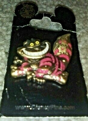 Disney Parks Alice In Wonderland Steampunk Cheshire Cat Pin On Original Card NEW
