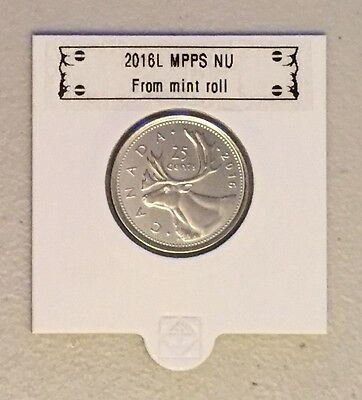 CANADA 2016 New 25 cents (BU directly from mint roll)