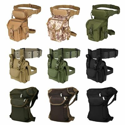 Waterproof Tactical Drop Leg Bag Men Motorcycle Military Hip Thigh Waist Pack