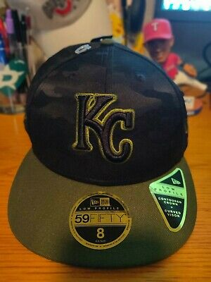 6e513e615f2127 Kansas City Royals New Era 2018 Memorial Day 59FIFTY On Field Fitted Hat  size 8