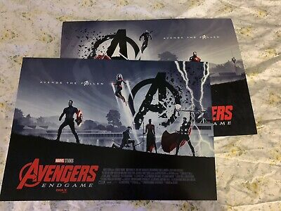"AVENGERS ENDGAME AMC IMAX EXCLUSIVE POSTER 11"" x 15.5"" Week 1 & 2 Poster Set"