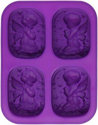 Cute Boy Girl Angel Rectangular Soap Mold Silicone Candle for Homemade Craft