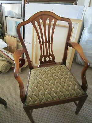 Hepplewhite period dining chairs , eight chairs including 2 carvers
