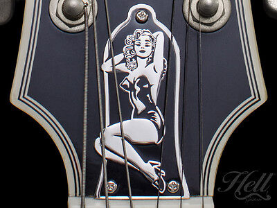 Pin-UP Brass 3-Hole Truss Rod Cover. Fits most Epiphone, Les Paul, SG + more