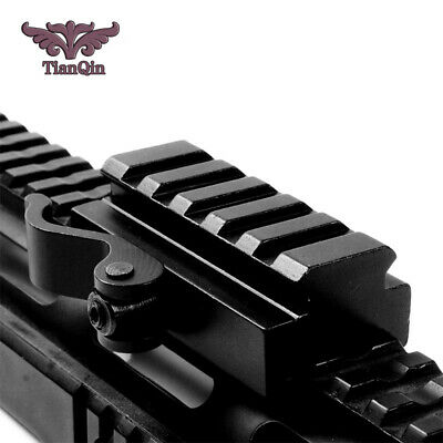 """5 Slots QD 3/5"""" Riser Quick Release Mount Adapter for 20mm Picatinny Rail Base"""