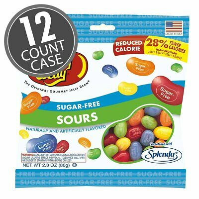 Jelly Belly Sugar Free Sours Candies 80g (Case of 12), Low Carb, No Sugar Added