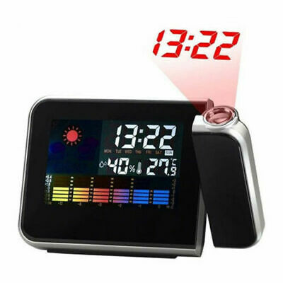 LCD Digital LED Projector Projection Alarm Clock Weather Station Calendar US KY