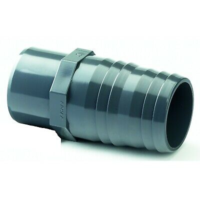 PVC Hose Tail Adaptor Solvent Weld Metric. WRAS Approved. 20mm to 63mm