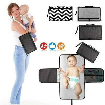 Portable Changing Station For Newborn Baby Infant - Lightweight Travel Home Diap