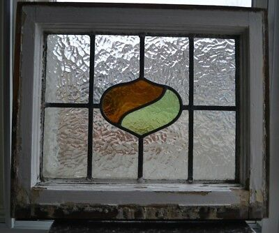 Art deco leaded light stained glass window sash fanlight. R460b.