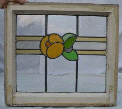 British leaded light stained glass window sash fanlight. R580b
