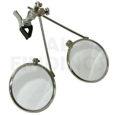 5.5x & 5.5x = 11x Clip On Double Lens Eyeloupe Eyeglass Magnifier Tool