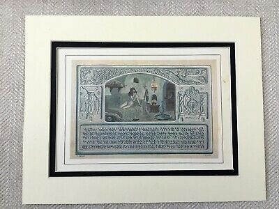 1930 Jewish Print Art Nouveau Jugendstil Hebrew Judiaca Antique Original
