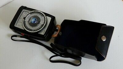GOSSEN LUNASIX F Exposure Meter Ambient and Flash - with Case and Strap - c.1981