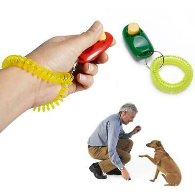 Puppy Dog Cat Pet Click Clicker whistle Training-Obedience Aid Wrist-Strap N4A3