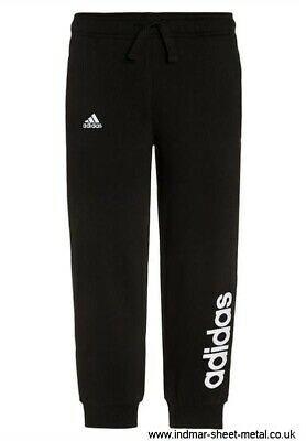 Girls Adidas Black Linear Cuffed Jogger Pant Bottoms 6-7 Years RRP £25 BNWT
