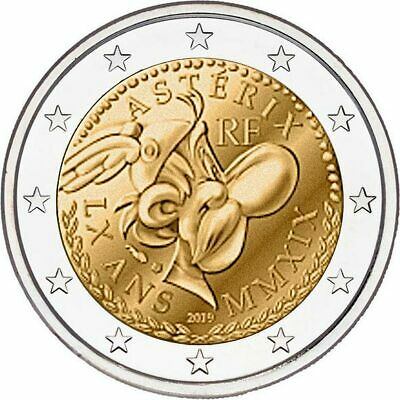 sofort lieferbar Frankreich  2019 2 Euro 60 Years of Asterix coin card
