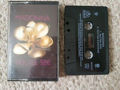 "MADONNA - ""YOU'LL SEE""- UK ORIGINAL CASSETTE SINGLE ! Ex cond. Rare Madame x"