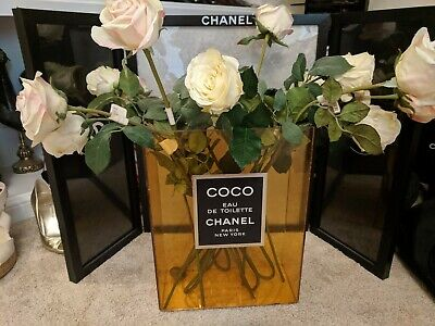 💯%auth Chanel Store bottle display sign handbag dummy factice shoes