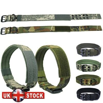 Adjustable Strong Dog Canine Military Tactical Working Training Collar Necklace