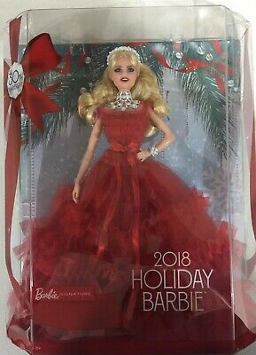 2018 Barbie Signature Holiday Collector Doll 30th Anniversary Blonde Hair