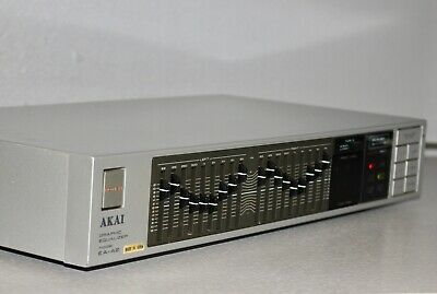 AKAI EA-A2 Graphic Equalizer Stereo front input Great Condition Made in Japan