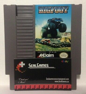 Bigfoot (Nintendo Entertainment System, 1990) AUTHENTIC NES TESTED & WORKS