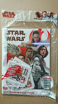 TOPPS - STAR WARS - THE LAST JEDI (Stickers) STARTER PACK FRENCH EDITION